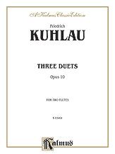 Three Duets for Two Flutes, Opus 10