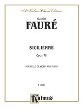Sicilienne, Opus 78