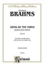 Johannes Brahms : Song of the Fates (Gesang der Parzen), Opus 89 : SSAATTB : 01 Songbook : 029156149487  : 00-K06051