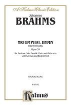 Johannes Brahms : Triumphal Hymn (Triumphlied), Opus 55 : SSAATTBB : Songbook : 029156662177  : 00-K06102
