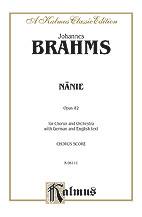 Johannes Brahms : Nanie-Nenia : SATB : 01 Songbook : 029156160406  : 00-K06111