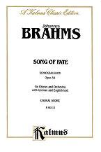 Johannes Brahms : Song of Fate (Schicksalslied), Opus 54 : SATB : 01 Songbook : 029156030143  : 00-K06112