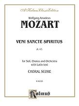 Wolfgang Amadeus Mozart : Veni Sancte Spiritus, K. 47 : SATB divisi : 01 Songbook : 029156165036  : 00-K06326