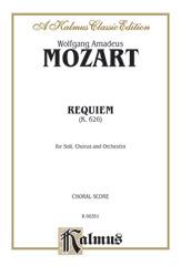 Wolfgang Amadeus Mozart : Requiem Mass, K. 626 : SATB divisi : 01 Songbook : 029156194562  : 00-K06351