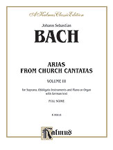 Arias from Church Cantatas, Volume III (5 Sacred)