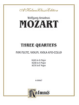 Three Quartets, K. 285, 298, 370