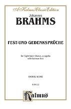 Johannes Brahms :  : SSAATTBB, <i>a cappe : 01 Songbook : 029156042108  : 00-K09722