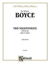 Boyce: Two Voluntaries (Ed. West)