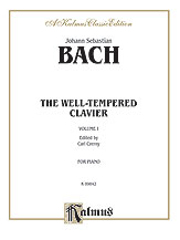 Bach: The Well-Tempered Clavier (Volume I) (Ed. Carl Czerny)