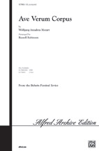 Ave Verum Corpus : SAB : Russell Robinson : Wolfgang Amadeus Mozart : Sheet Music : 00-OCT9802 : 029156667530