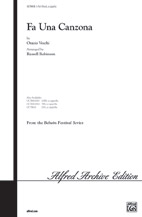 Fa Una Canzona : SAB : Russell Robinson : Orazio Vecchi : Sheet Music : 00-OCT9818 : 029156910902