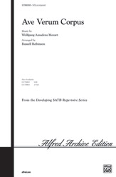 Ave Verum Corpus : SATB : Russell Robinson : Wolfgang Amadeus Mozart : Sheet Music : 00-OCTM05005 : 654979090991