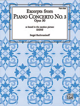 Piano Concerto No. 3, Opus 30, Excerpts from