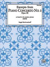 Piano Concerto No. 3, Opus 30, Excerpts from
