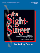 The Sight-Singer, Volume I for Two-Part Mixed/Three-Part Mixed Voices
