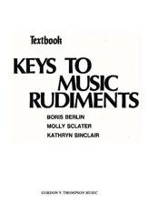 Keys to Music Rudiments: Textbook