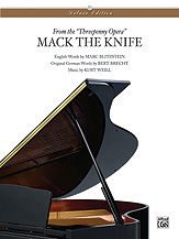 Mack the Knife (from The Threepenny Opera)