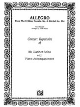 Allegro (from <I>E Minor Sonata #4</I>)