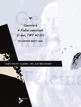 Concerto a 4 Violini concertati G-Dur TWV 40:201