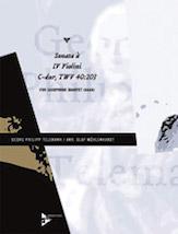 Sonata a IV Violini C-dur, TWV 40:203