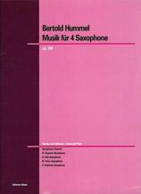 Musik fur 4 Saxophone Opus 88f
