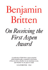 On Receiving the Aspen Award