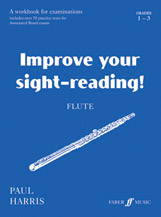 Improve Your Sight-reading! Flute; Grade 1-3; A Workbook for Examinations (Book) (Flute); #YL12-0571514669 By Paul Harris