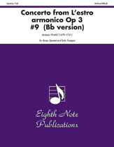 Concerto (from <i>L'estro Armonico,</i> Op 3 #9) (B-flat version)