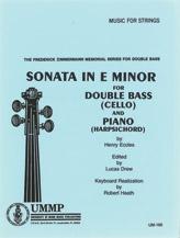 Sonata in E Minor for Double Bass (Cello) and Piano (Harpsichord)