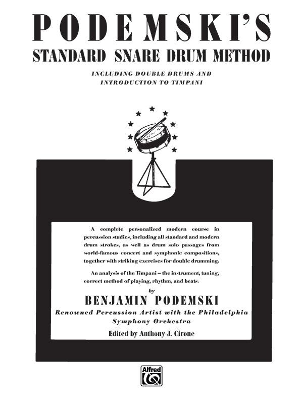 Podemski S Standard Snare Drum Method Snare Drum Book Benjamin Podemski