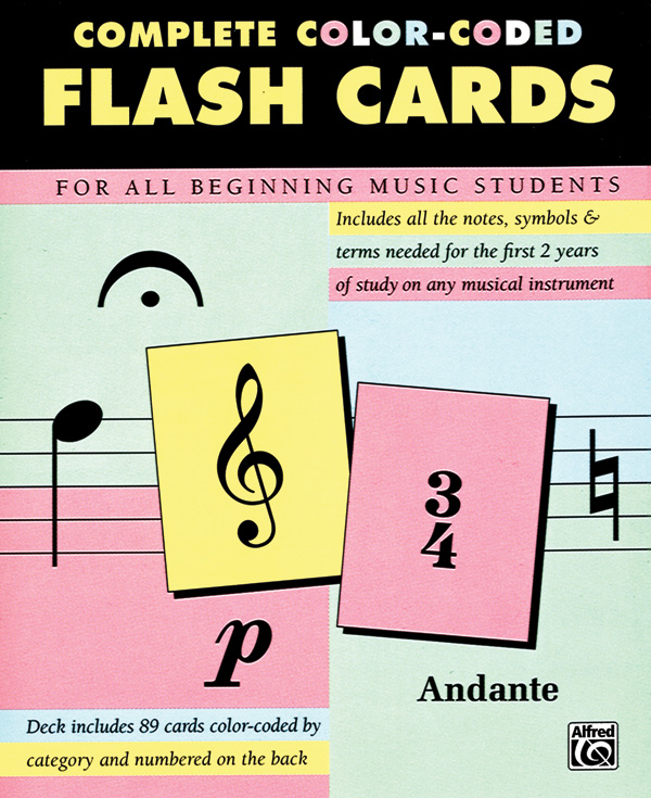 image about Piano Flash Cards Printable referred to as Comprehensive Shade-Coded Flash Playing cards