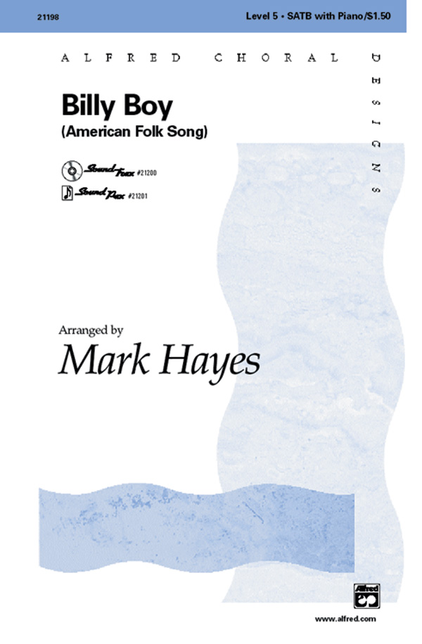 Billy Boy : SATB : Mark Hayes : Sheet Music : 00-21198 : 038081201184