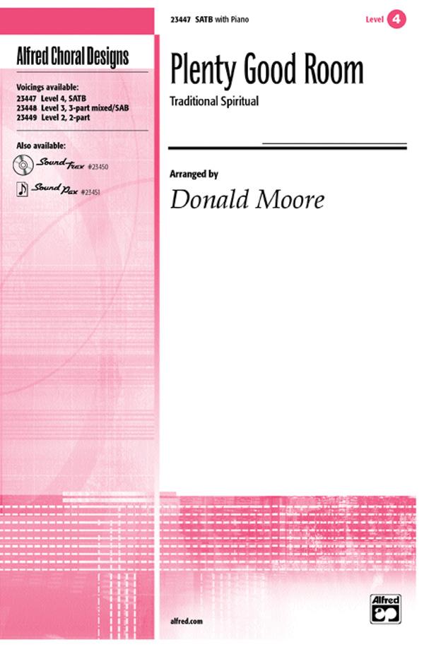 Plenty Good Room : SATB : Donald Moore : Songbook & CD : 00-23447 : 038081237718