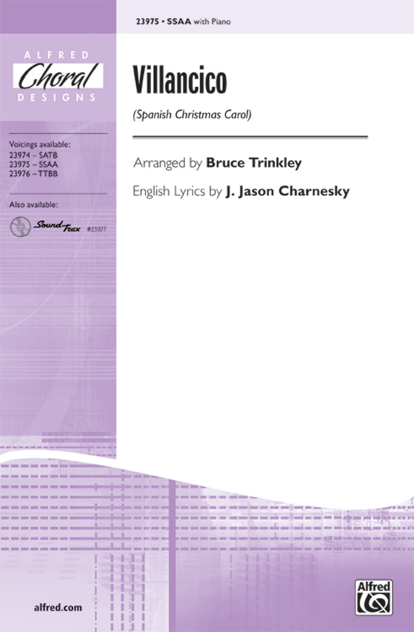 Villancico : SSAA : Bruce Trinkley : Sheet Music : 00-23975 : 038081260846
