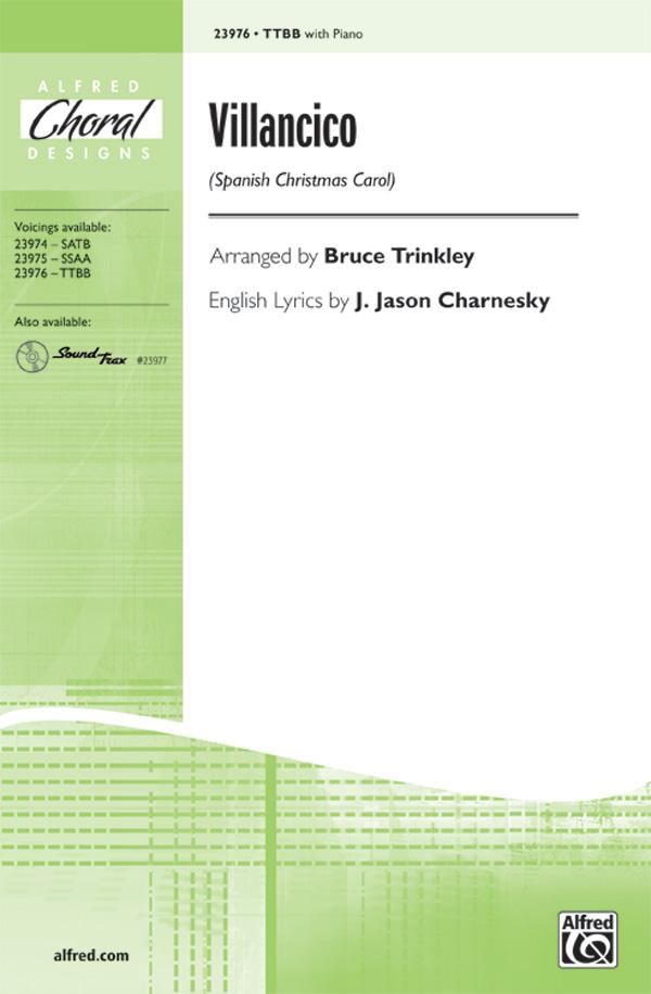 Villancico : TTBB : Bruce Trinkley : Sheet Music : 00-23976 : 038081260853