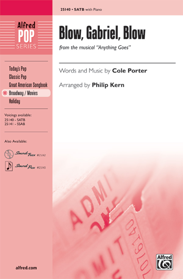 Blow, Gabriel, Blow : SATB : Philip Kern : Cole Porter : Anything Goes : Sheet Music : 00-25140 : 038081266343