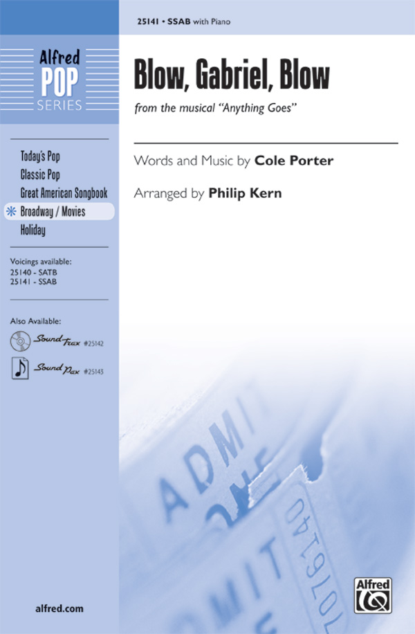 Blow, Gabriel, Blow : SAB : Philip Kern : Cole Porter : Anything Goes : Sheet Music : 00-25141 : 038081266350