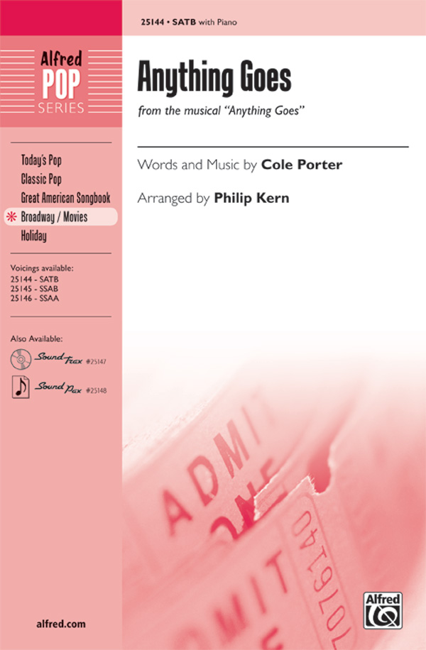 Anything Goes : SATB : Philip Kern : Cole Porter : Anything Goes : Showtrax CD : 00-25144 : 038081266381