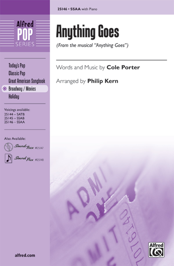 Anything Goes : SSAA : Philip Kern : Cole Porter : Anything Goes : Sheet Music : 00-25146 : 038081266404