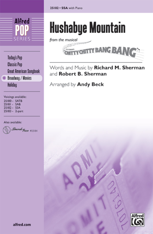 Hushabye Mountain : SSA : Andy Beck : Richard Sherman : Chitty Chitty Bang Bang : Sheet Music : 00-25182 : 038081266749
