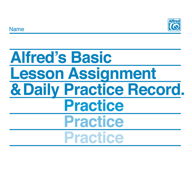 Alfred S Basic Lesson Assignment Daily Practice Record Piano Book