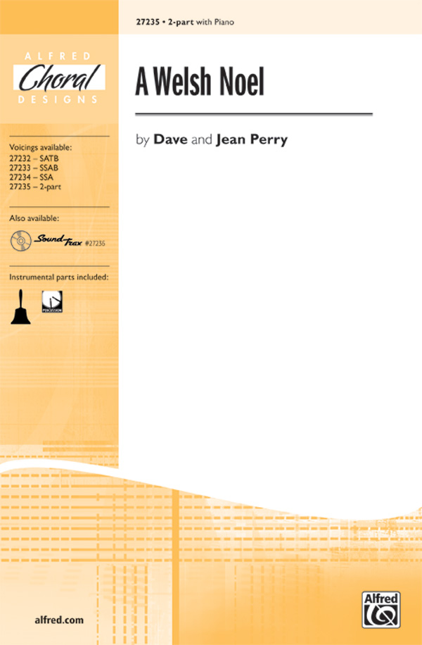 A Welsh Noel : 2-Part : Dave and Jean Perry : Sheet Music : 00-27235 : 038081294957