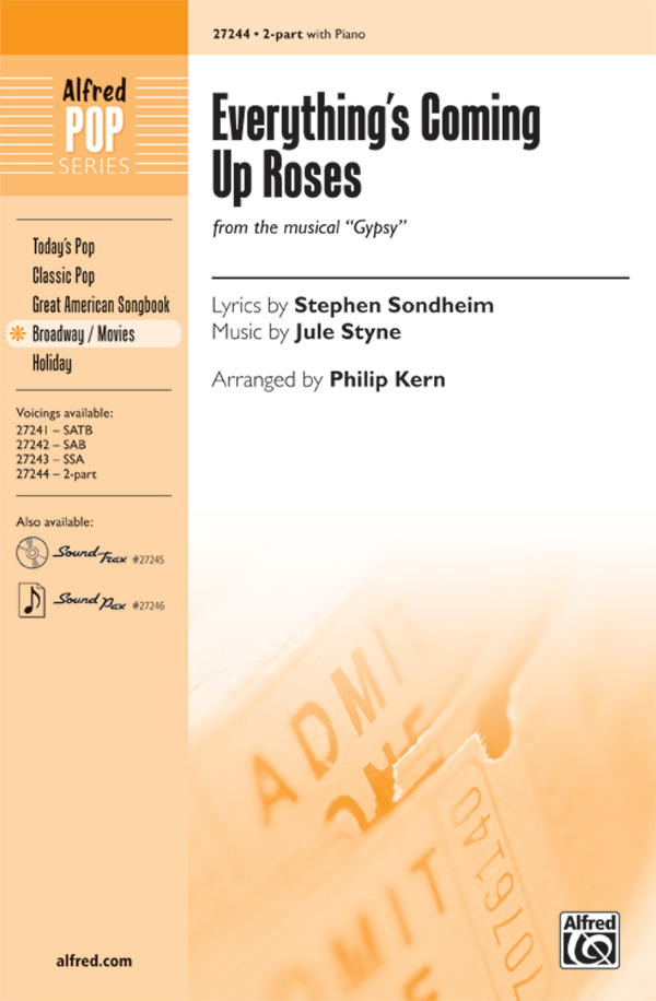 Everything's Coming Up Roses : 2-Part : Philip Kern : Jule Styne : Gypsy : Sheet Music : 00-27244 : 038081295046
