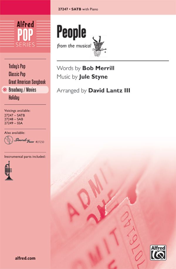 People : SATB : David Lantz III : Jule Styne : Barbra Streisand : Funny Girl : Songbook : 00-27247 : 038081295077