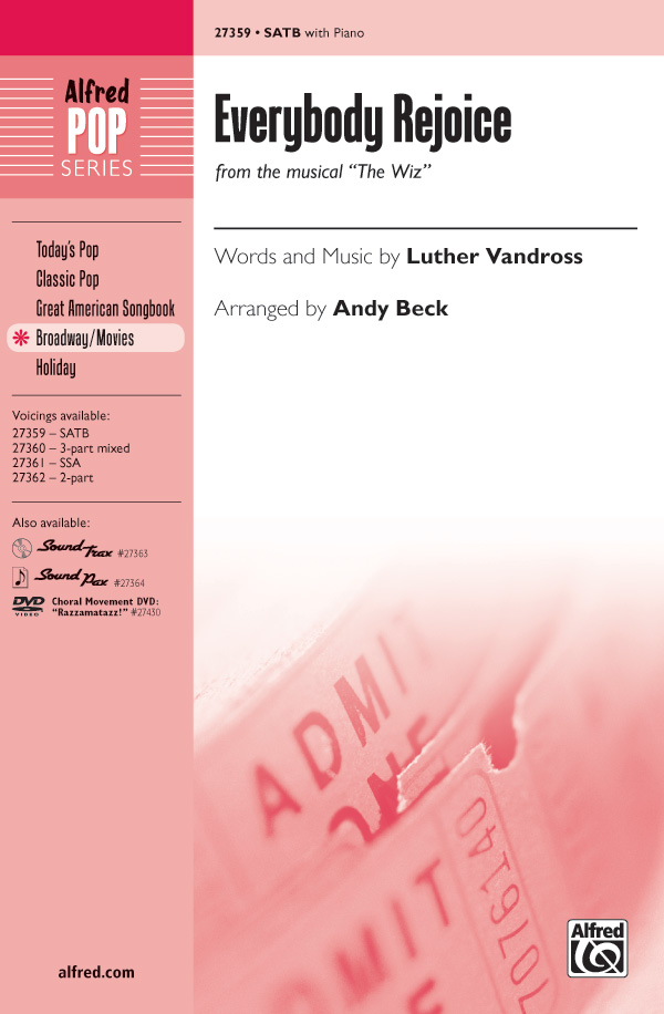 Everybody Rejoice : SATB : Andy Beck : Charlie Smalls : The Wiz : Sheet Music : 00-27359 : 038081296197