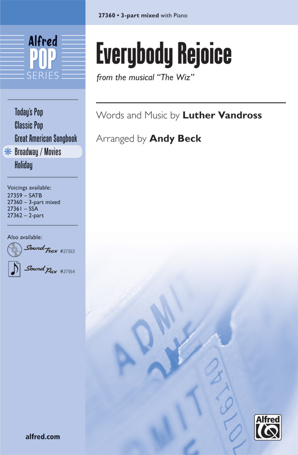 Everybody Rejoice : 3-Part : Andy Beck : Charlie Smalls : The Wiz : Sheet Music : 00-27360 : 038081296203