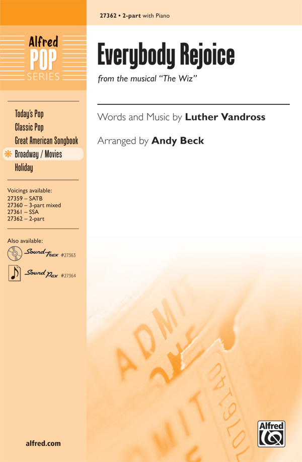 Everybody Rejoice : 2-Part : Andy Beck : Charlie Smalls : The Wiz : Sheet Music : 00-27362 : 038081296227