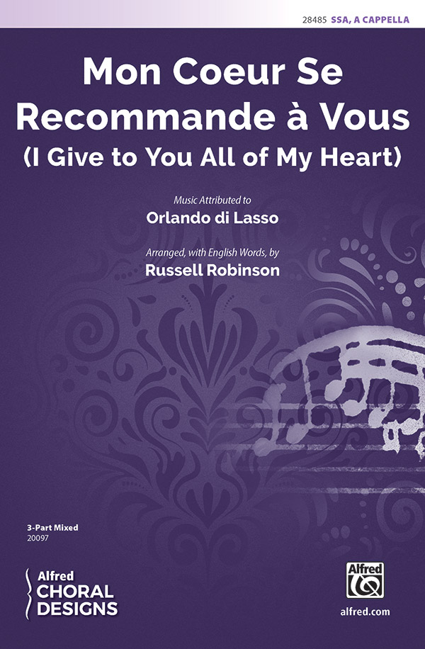 Mon Coeur Se Recommande A Vous : SSA : Russell Robinson : Sheet Music : 00-28485 : 038081310299