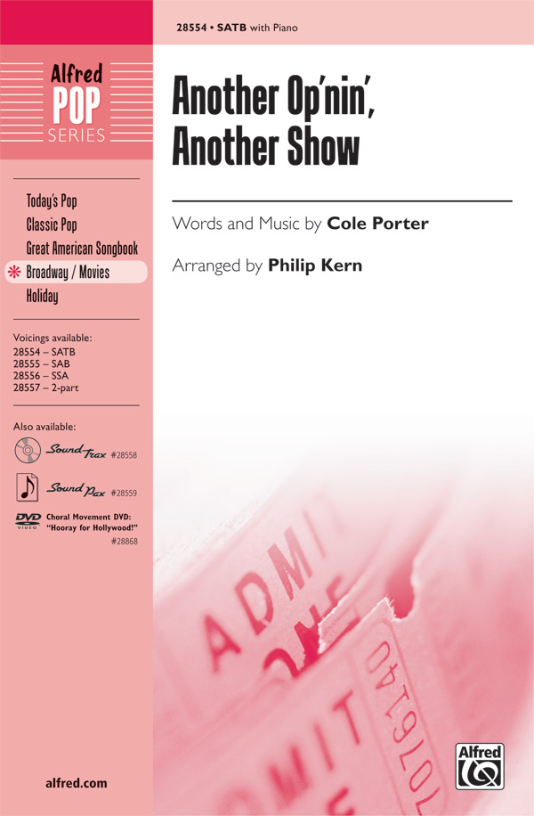 Another Op'nin', Another Show : SATB : Philip Kern : Cole Porter : Kiss Me, Kate : Showtrax CD : 00-28554 : 038081310985