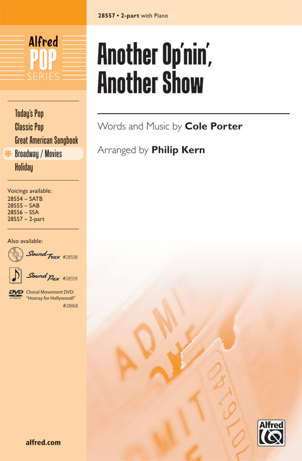 Another Op'nin', Another Show : 2-Part : Philip Kern : Cole Porter : Kiss Me, Kate : Sheet Music : 00-28557 : 038081311012